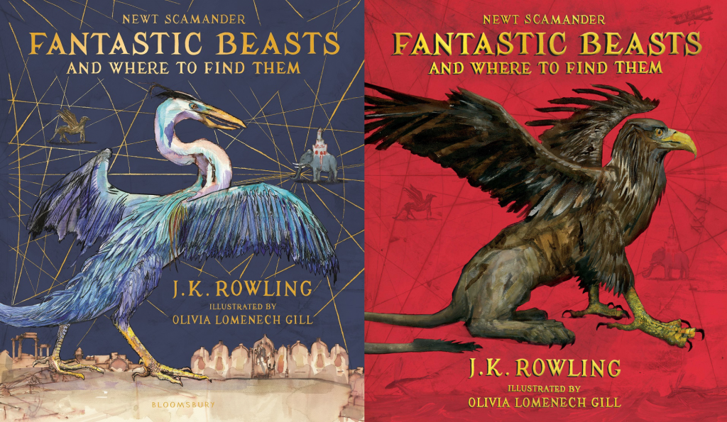 Book Cover Illustrations For Sale : New illustrations for fantastic beasts library book j k